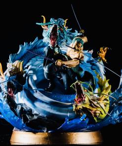One Piece Roronoa Zoro Triple Dragon Resin